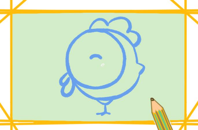 可愛的卡通小雞的圖片怎么畫