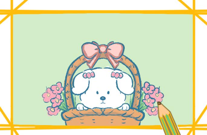 漂亮的白色小狗图片怎么画可爱唯美