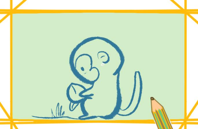 可爱的小猴子简笔画图怎么画