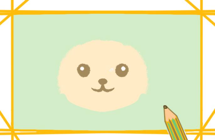 卡通的狗狗简笔画带颜色怎么画超简单