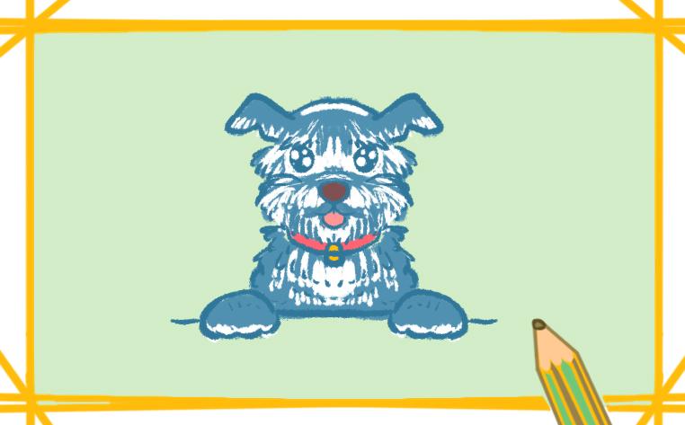 可爱的小狗简笔画一步一步教你画