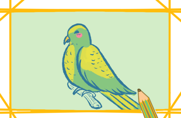简单好看的小鸟上色简笔画要怎么画