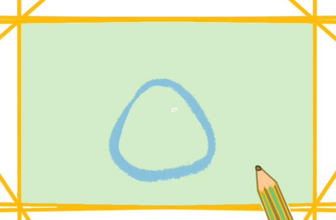 可爱的小鸡简笔画卡通图