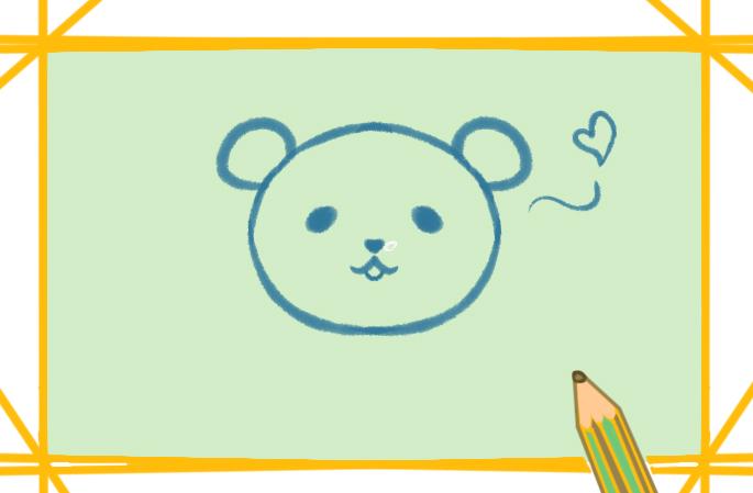 軟乎乎的熊貓上色簡筆畫要怎么畫