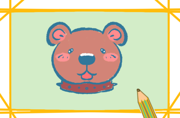 大棕熊卡通簡筆畫的圖片怎么畫