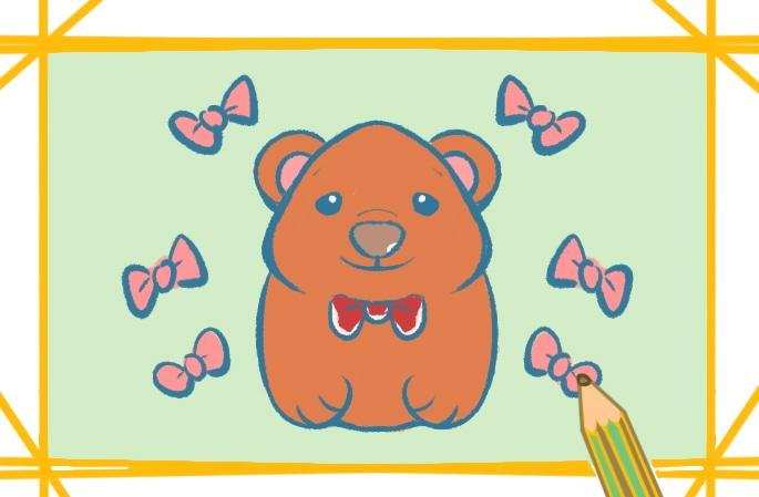 胖胖的棕熊简笔画图片怎么画