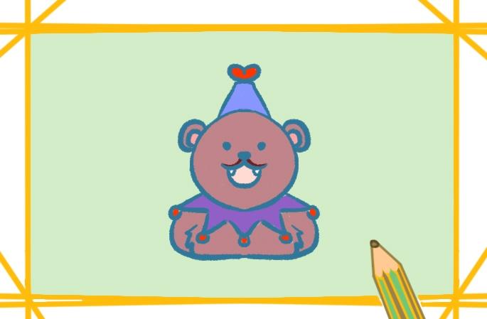 马戏团的棕熊简笔画图片怎么画