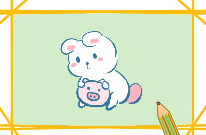 卡通小兔简笔画怎么画可爱又好看
