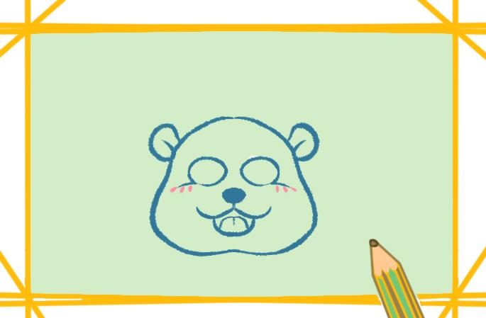 胖胖的小熊猫上色简笔画要怎么画
