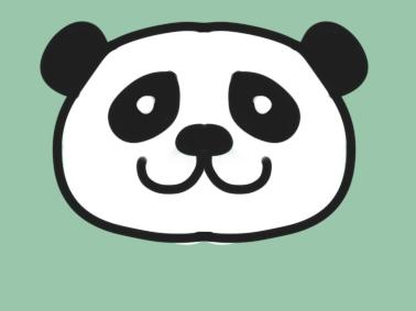超简单的熊猫简笔画图片怎么画