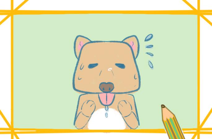 流汗的藏狐上色簡筆畫要怎么畫