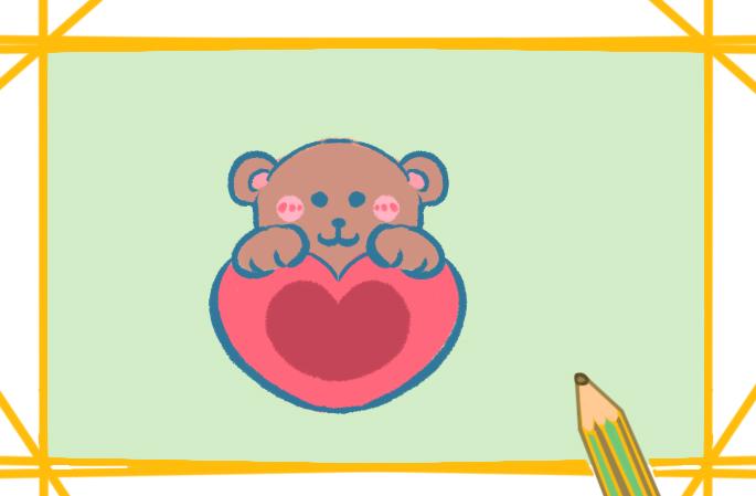 可爱的玩具熊上色简笔画要怎么画