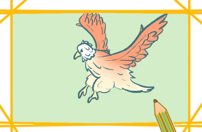 帅气的老鹰简笔画图片怎么画