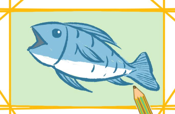 好看的魚簡筆畫教程步驟圖片大全