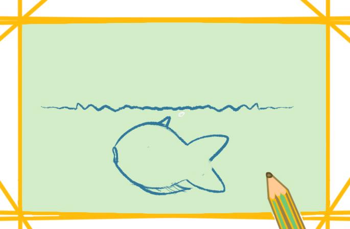 水里的金鱼上色简笔画要怎么画