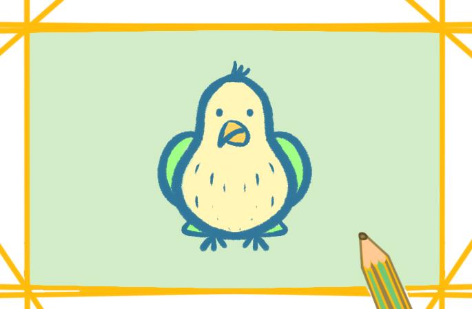 超简单的鹦鹉上色简笔画要怎么画