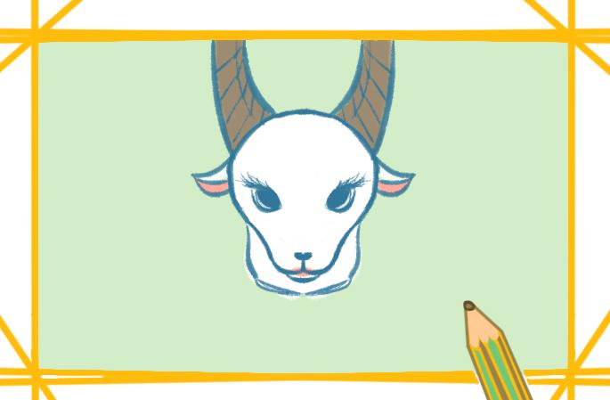 雪白的山羊上色簡筆畫要怎么畫
