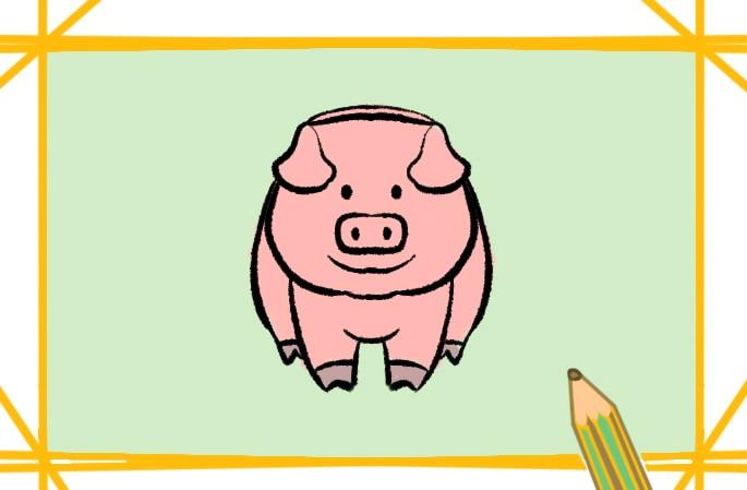 可爱的猪简笔画图片怎么画