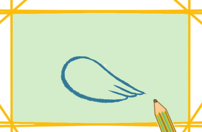 长嘴巴的鸟儿上色简笔画要怎么画