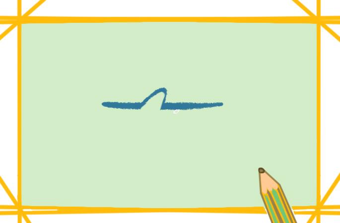 呆萌的鲨鱼上色简笔画要怎么画
