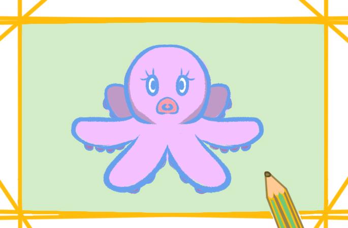 卡通章鱼简笔画教程图片大全