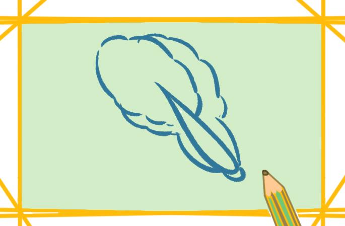 健康的蔬菜上色简笔画图片教程