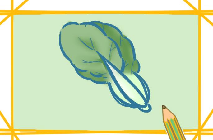 新鲜的蔬菜上色简笔画要怎么画