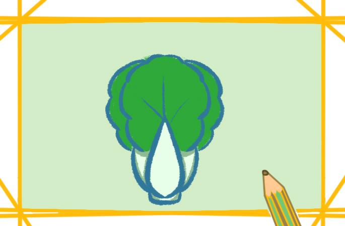 綠色蔬菜簡筆畫的圖片怎么畫
