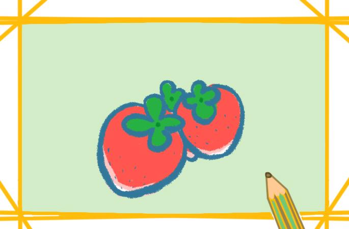 好看的草莓简笔画彩色图片