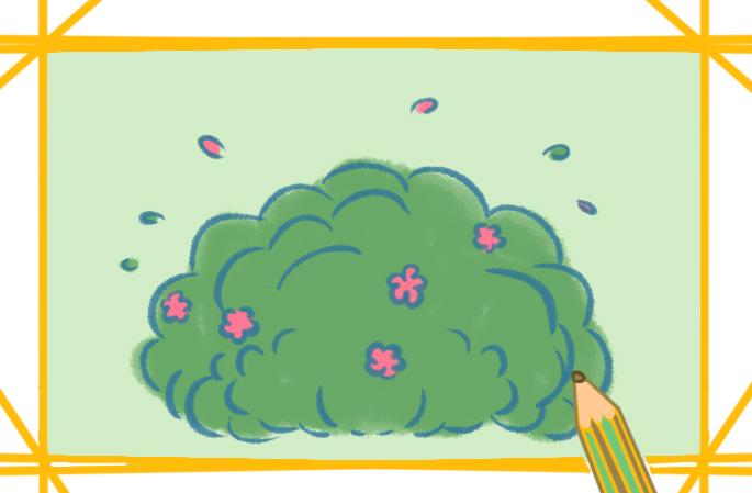 簡單的草叢上色簡筆畫圖片教程