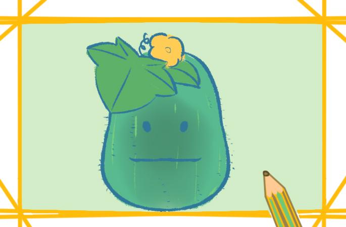 一步一步教你畫可愛的冬瓜