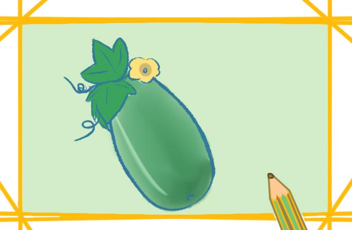 一步一步教你畫漂亮的冬瓜簡筆畫圖片