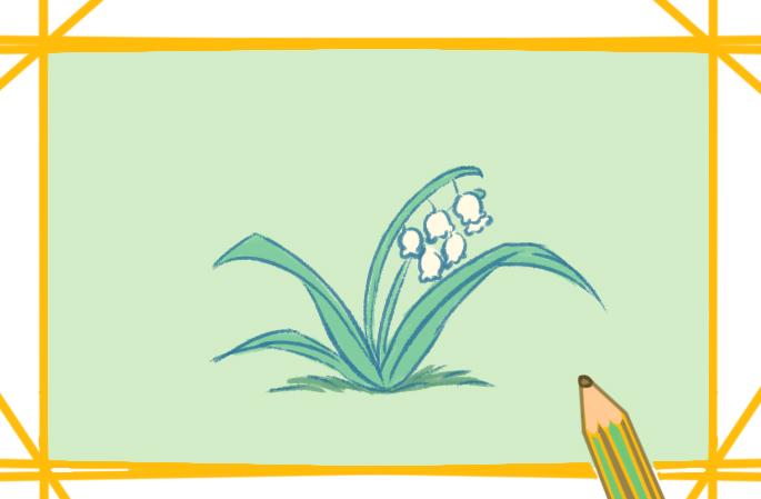 植物之鈴蘭簡筆畫圖片教程
