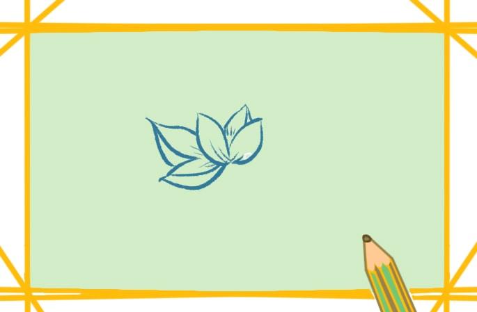 水生蓮花上色簡筆畫圖片教程