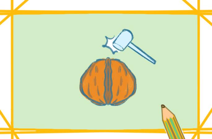 堅果核桃上色簡筆畫要怎么畫