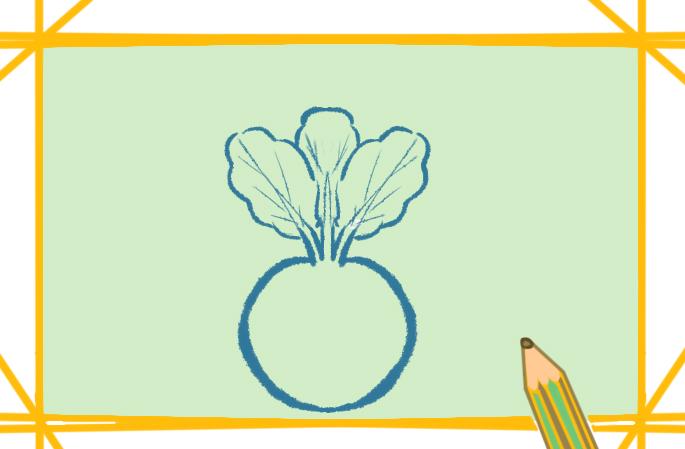 矮小的胡萝卜上色简笔画要怎么画