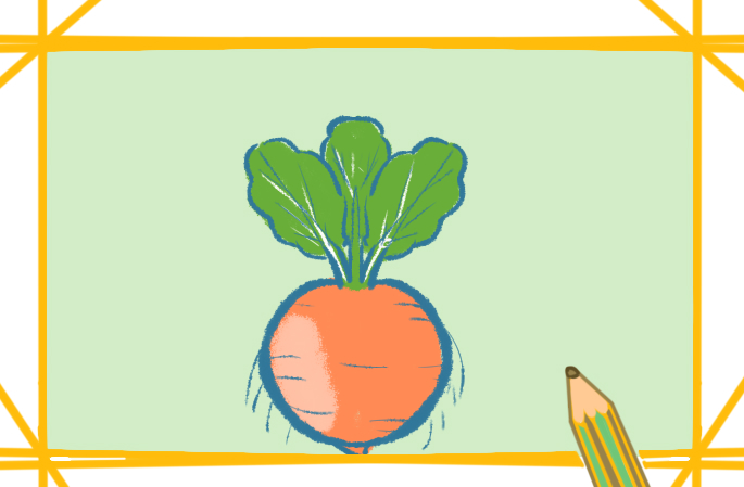 蔬菜之胡萝卜上色简笔画要怎么画