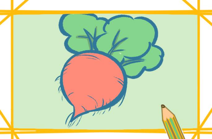 漂亮的胡萝卜上色简笔画图片教程