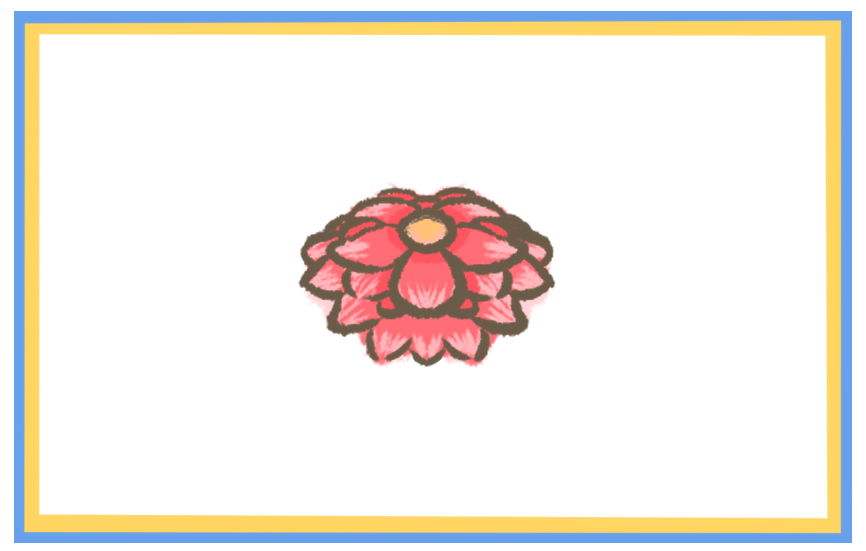 美丽的红花上色简笔画要怎么画