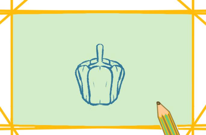 青椒简笔画好看简单教程步骤图片