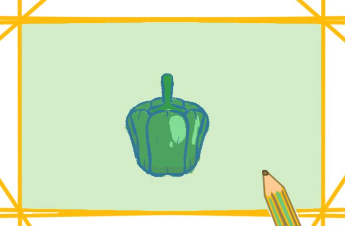青椒简笔画彩色儿童画