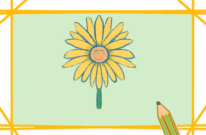 漂亮的菊花兒童畫怎么畫簡單好看