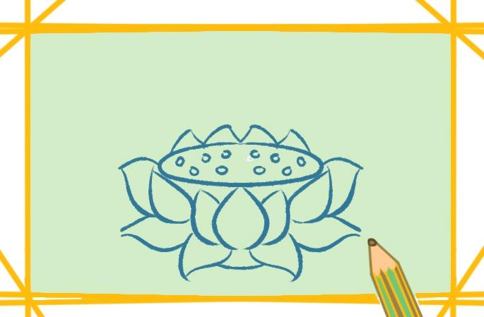 好看的蓮花座上色簡筆畫圖片教程