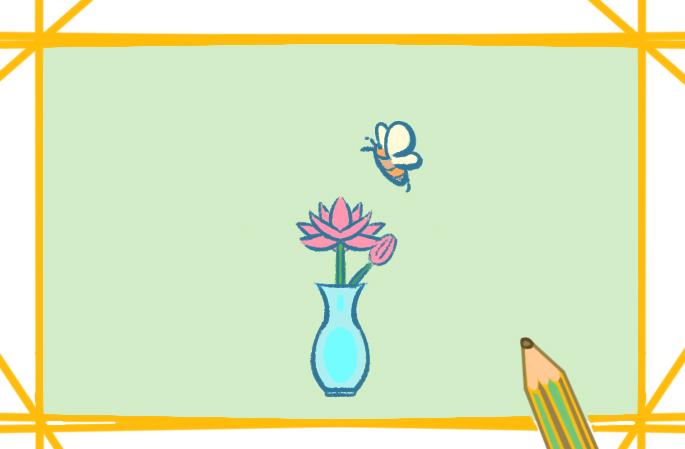 漂亮的莲花简笔画教程步骤图片大全