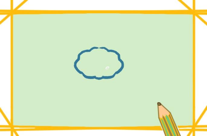 綠色的蓮蓬簡筆畫圖片教程步驟