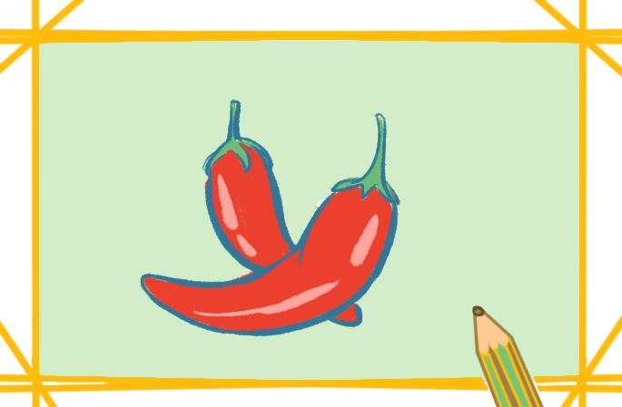 火辣辣的辣椒简笔画教程步骤图