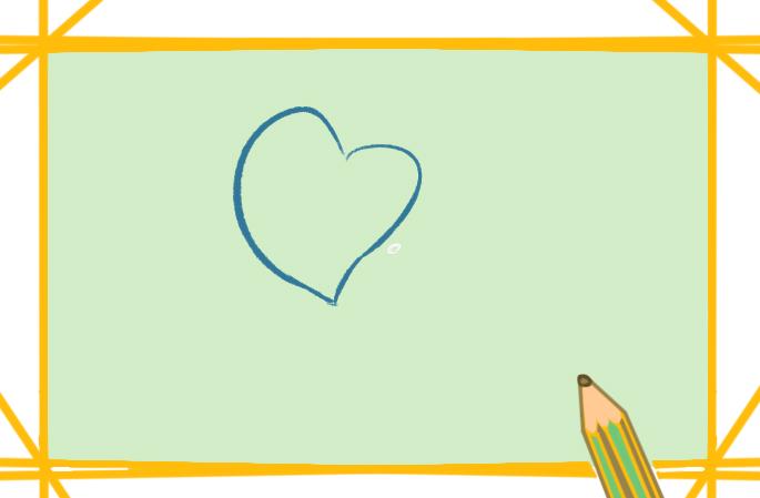 洁白的马蹄莲上色简笔画图片教程
