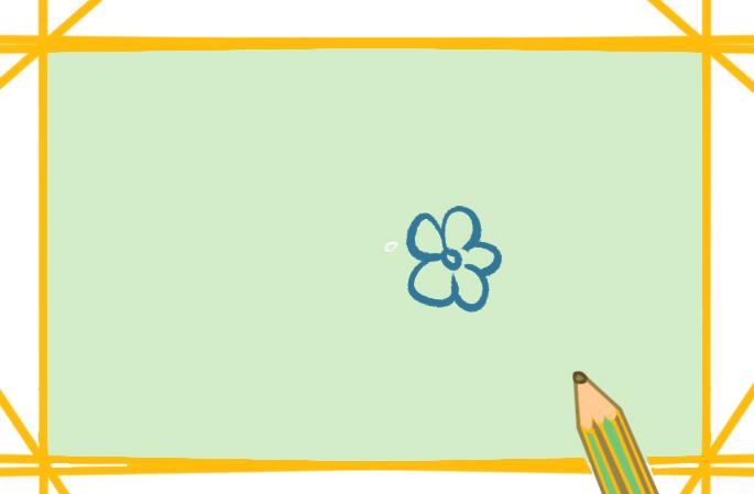 漂亮的梅花上色简笔画图片教程