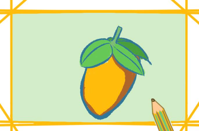 金黃色的芒果簡筆畫要怎么畫