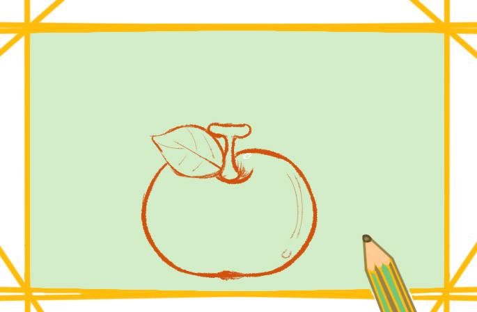 好看漂亮的苹果上色简笔画要怎么画